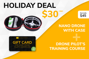 Holiday Nano Drone + Training Course Sale