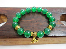 Green Jade Bracelet, Heart Chakra Bracelet, Yoga Meditation Bracelet Green Jade Power Healing Love - Healing Atlas