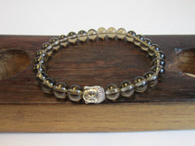 Men's Smoky Quartz Root, Men's Chakra Bracelet, Smoky Quart Grounding Bracelet, Smoky Quartz Charm - Healing Atlas