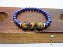 Lapis Lazuli Tiger Eye Protection Mala Bracelet Third Eye Chakra Bracelet Protection Bracelet - Healing Atlas