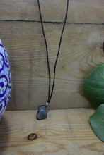 Blue Labradorite Leather Necklace Hand Drilled Tumbled Blue Labradorite Pendant with Leather Cord of Your Choice Labradorite Pendant Leather - Healing Atlas