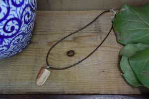 Petrified Wood Crystal Healing Necklace Choose your Leather Cord or Chain Petrified Wood Gemstone Pendant Petrified Wood  Leather Necklace - Healing Atlas