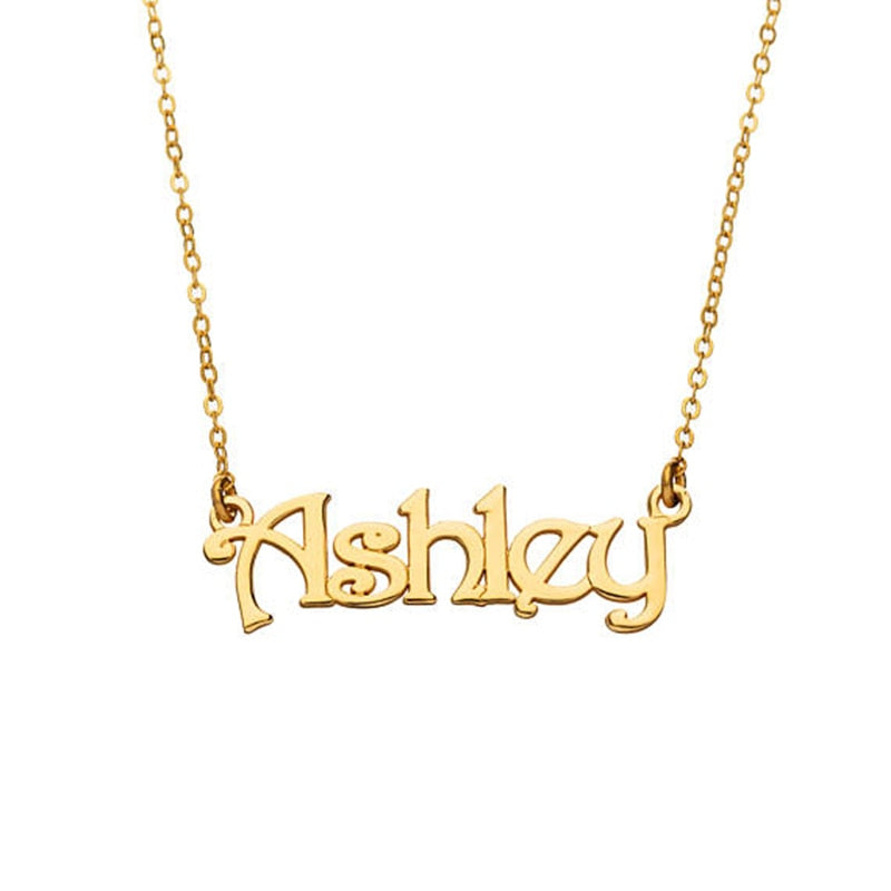 Personalized Name Pendant Necklaces Stainless Steel Custom Made with Any Name Fashion Jewelry Gift - Healing Atlas