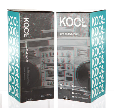Kool Cones Pre-Roll Cones Natural Raw 109mm x 26mm (800 count)