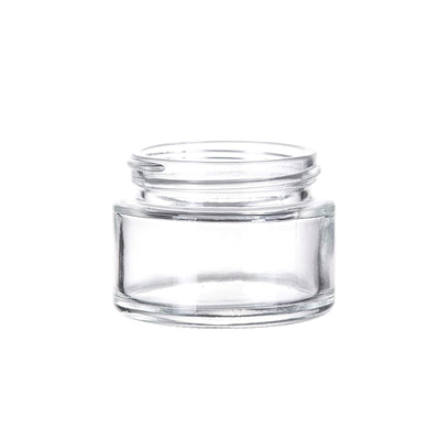 Cannabis - 2 Oz Glass Flush Child Resistant Flint Jar,  53/400 Finish (24pcs)