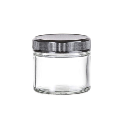 Cannabis - 2 Oz Glass Straight Side Flint Jar, 53-400 Finish (24pcs)
