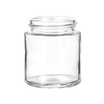 Cannabis - 4 Oz Glass Flush Child Resistant Flint Jar,  53/400 Finish (24pcs)
