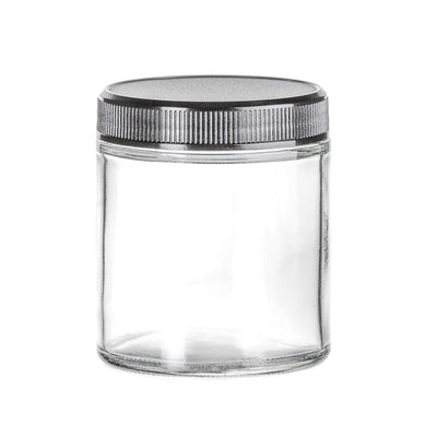 Cannabis - 4 Oz Glass Straight Side Flint Jar, 58-400 Finish (24pcs)