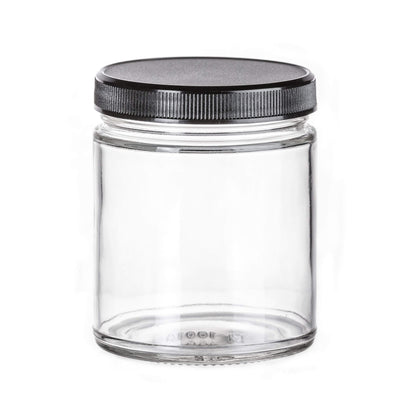 Cannabis - 9 Oz Glass Straight Side Flint Jar, 70-400 Finish (12pcs)