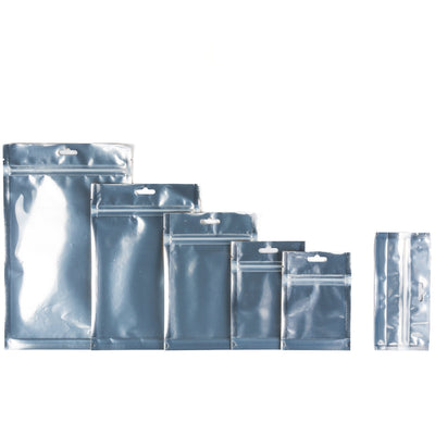 Cannabis - Mylar Bag 1 OUNCE (28grams) Kraft/Clear  (1000 Count)