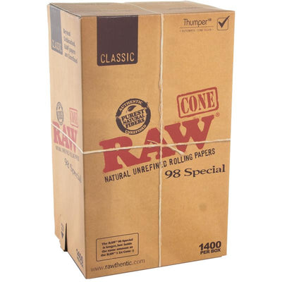 Cannabis - RAW CLASSIC 98 Special BULK 98mm/20mm CONES (1400 Count)