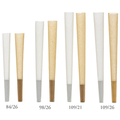 KC Pre-Roll Cones  Pure White 109mm x 21mm (1000 count)