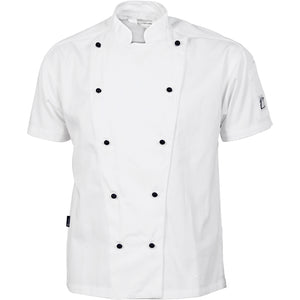 1105 - Three Way Air Flow Chef Jacket - Short Sleeve