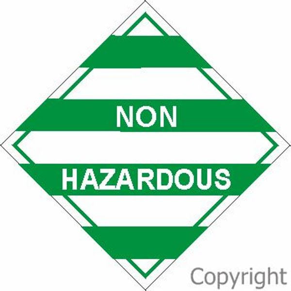 HAZCHEM Non Hazardous Sign