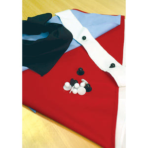 1761 - Chef Jacket Button Strip - Pair