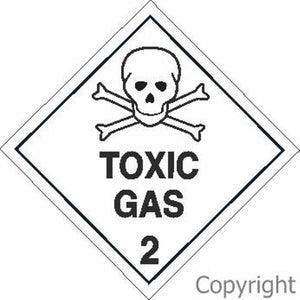 HAZCHEM Toxic Gas Sign