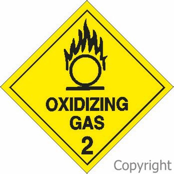 HAZCHEM Oxidizing Gas Sign