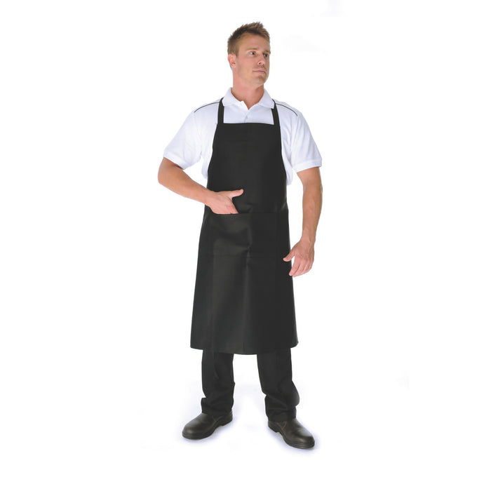2501 - Cotton Drill Full Bib Apron With Pocket