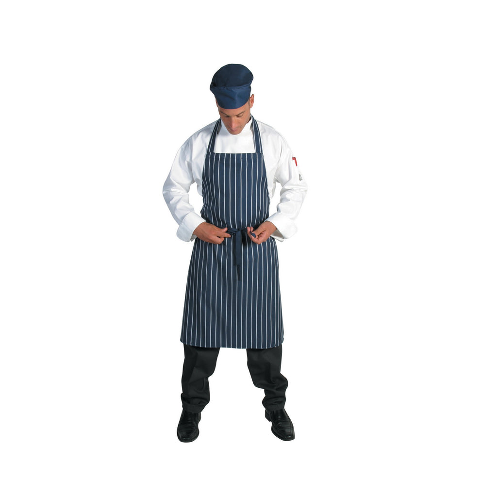 2536 - Pinstripe Full Bib Apron - No Pocket