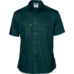 Cotton Drill Work Shirt - Short Sleeve