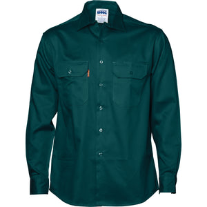 3202 - Cotton Drill Work Shirt - Long Sleeve