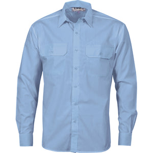 Polyester Cotton Work Shirt - Long Sleeve