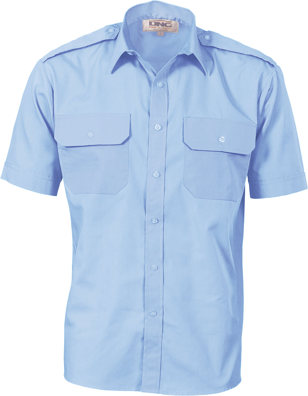 3213 - Epaulette Polyester/Cotton Work Shirt - Short Sleeve