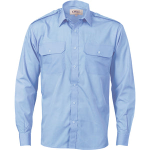 3214 - Epaulette Polyester/Cotton Work Shirt - Long Sleeve