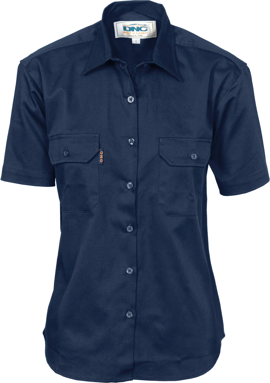 3231 - Ladies Cotton Drill Work Shirt - Short Sleeve