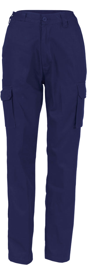 3322 - Ladies Cotton Drill Cargo Pants
