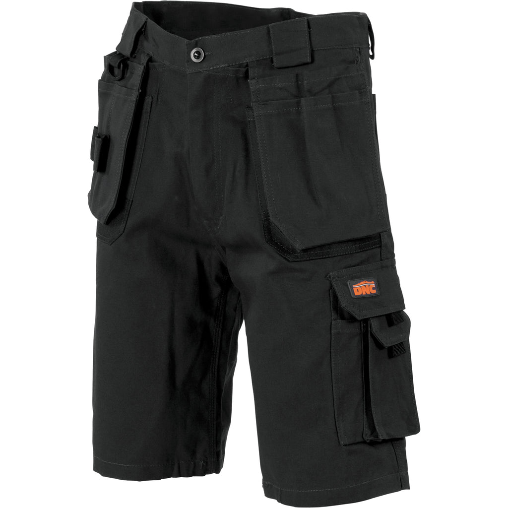 3336 - Duratex Cotton Duck Weave Tradies Cargo Shorts - with twin holster tool pocket