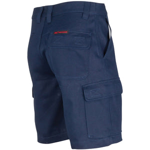 3358 - Middle Weight Cotton Double Slant Cargo Shorts - With Shorter Leg Length