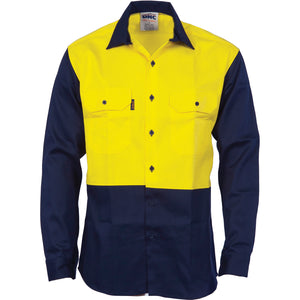 3406 - Patron Saint® Flame Retardant Two Tone Drill Shirt - L/S