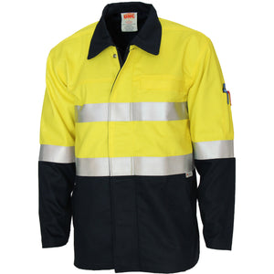 3458 - Patron Saint Flame Retardant Two Tone Drill ARC Rated Welder's Jacket with 3M F/R Tape