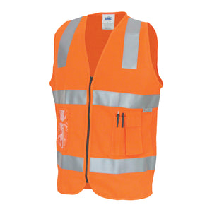 3507 - Day/Night Side Panel Safety Vest with Generic R/Tape