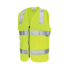 Day/Night Side Panel Safety Vest with Generic R/Tape