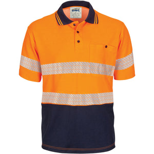 HIVIS Segment Taped Cotton Backed Polo - Short Sleeve