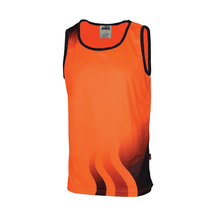 3561 - WAVE HI VIS SUBLIMATED SINGLET