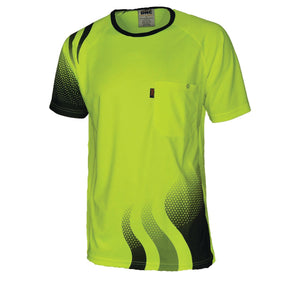 3562 - WAVE HI VIS SUBLIMATED TEE