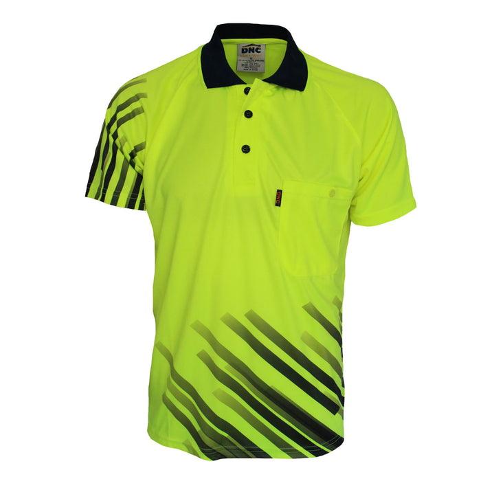 Hivis Sublimated Stripe Polo