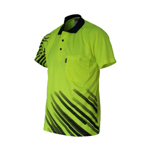 3565 - Hi Vis Sublimated Stripe Polo