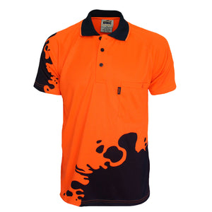 3567 - Hi Vis Sublimated Blot Polo