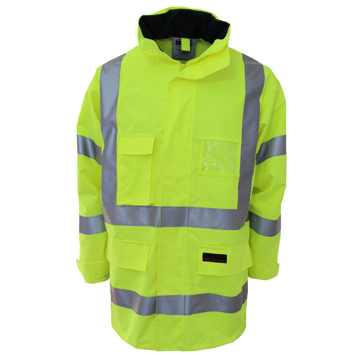 HiVis Breathable Rain Jacket Biomotion tape