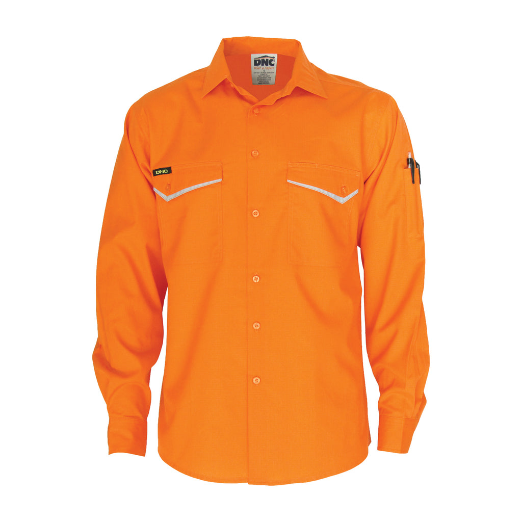 HiVis RipStop Cotton Cool Shirt, L/S