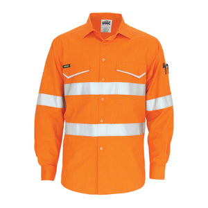 3590 - Rip Stop Cotton Cool Shirt with CSR Reflective Tape, L/S