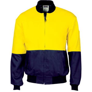 3757 - Hi Vis Two Tone Cotton Bomber Jacket