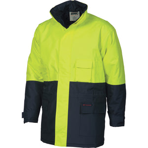 3766 - Hi Vis two tone parka