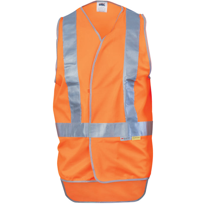 3802 - Day/Night Cross Back Safety Vests with Tail