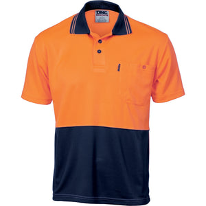 3811 - Hi Vis Two Tone Cool Breathe Polo Shirt, Short Sleeve
