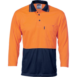 3812 - Hi Vis Two Tone Cool Breathe Polo Shirt, 3/4 Sleeve